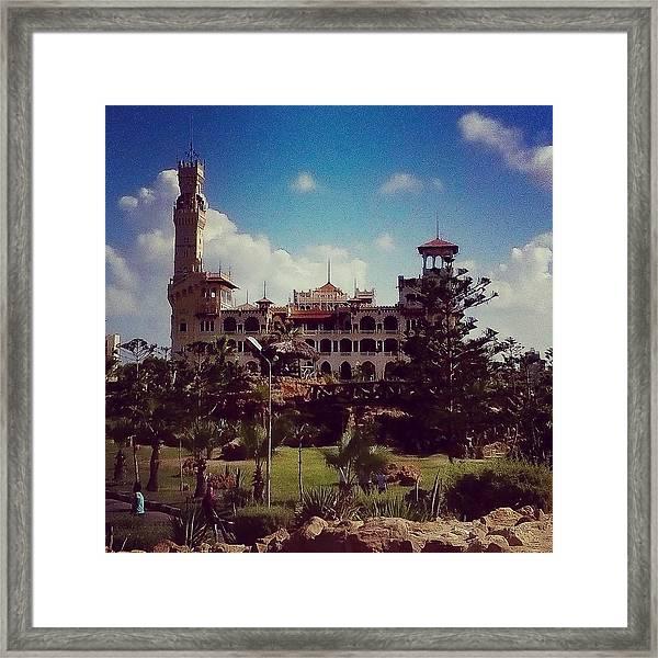 King Farouk Castle, Alexandria, Egypt Framed Print