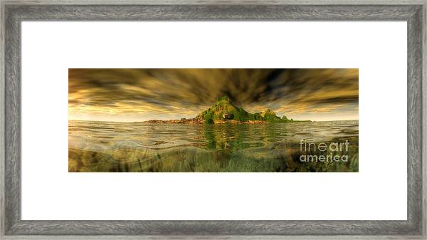 King Kongs Island Framed Print