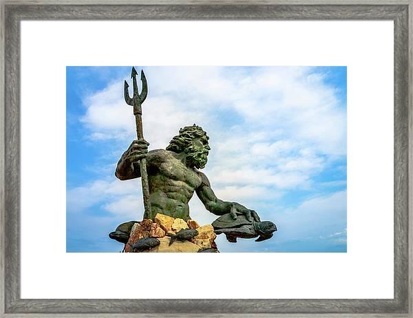 King Neptune Framed Print