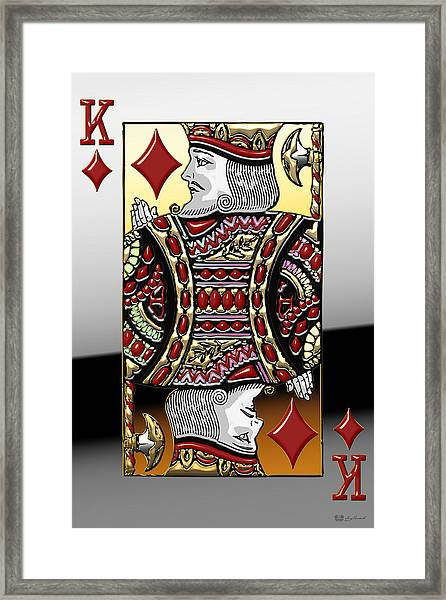 King Of Diamonds   Framed Print