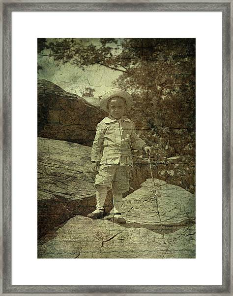 King Of The Mountaintop Framed Print