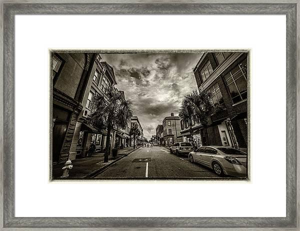 King St. Storm Clouds Charleston Sc Framed Print