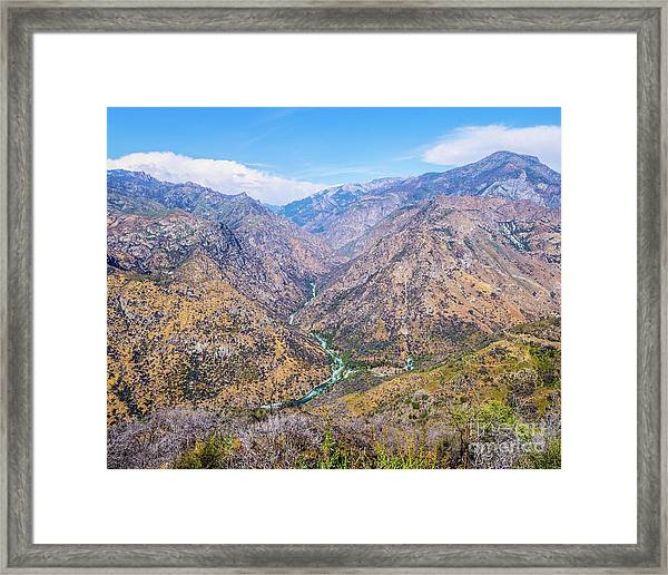 King's Canyon  Framed Print