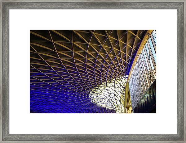 Kings Cross Railway Station Roof Framed Print