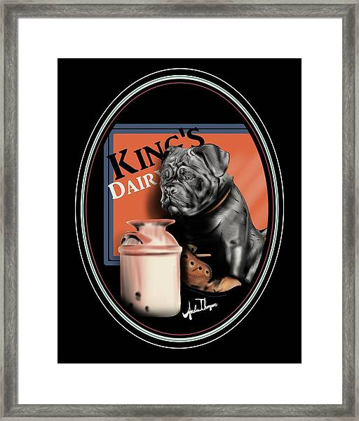 King's Dairy  Framed Print