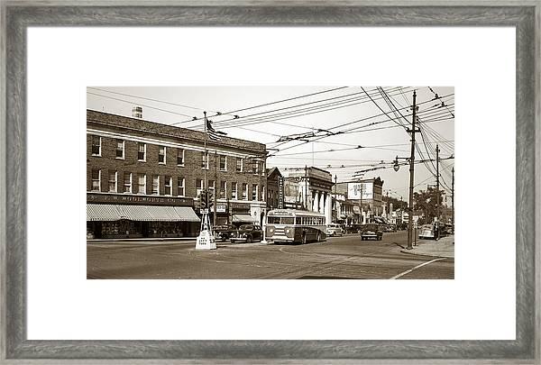 Kingston Corners Kingston Pa Early 1950s Framed Print