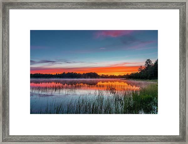 Kingston Lake Sunset Framed Print