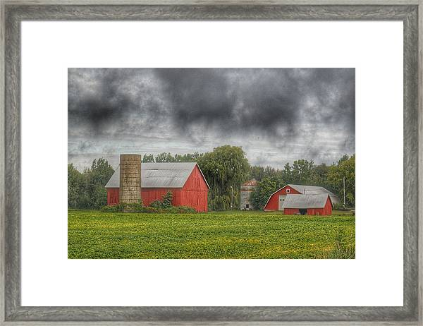 0022 - Kingston Road Red Trio I Framed Print