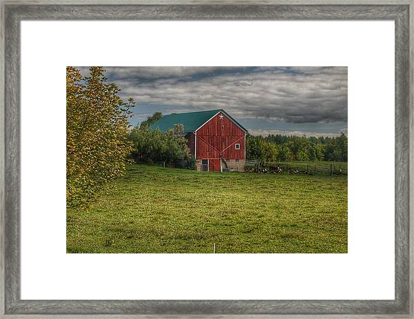 0039 - Kingston's Plain Road Cow Barn I Framed Print