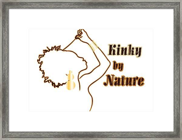 Kinky By Nature Framed Print