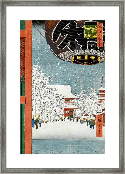 Kinryuzan Temple At Asakusa Framed Print