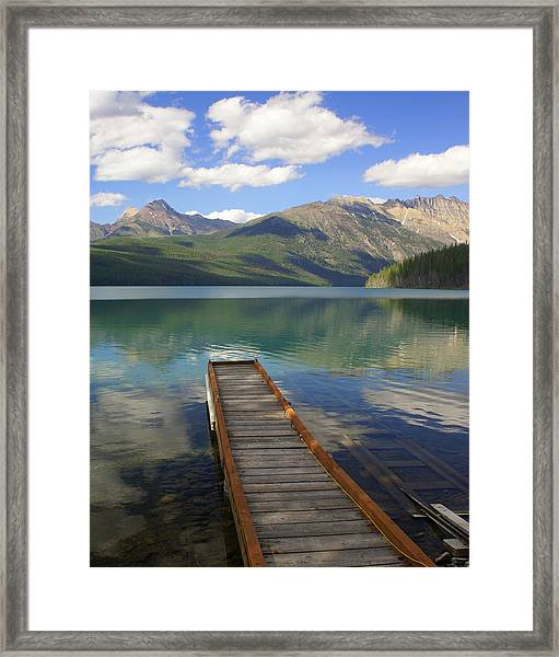 Kintla Lake Dock Framed Print