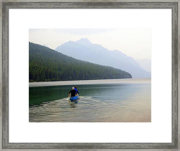 Kintla Lake Paddlers Framed Print