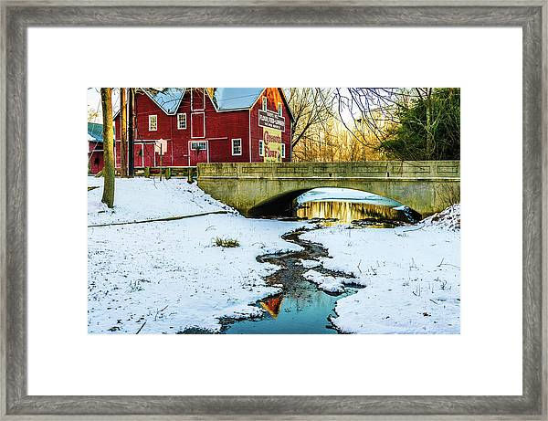 Kirby's Mill Landscape - Creek Framed Print