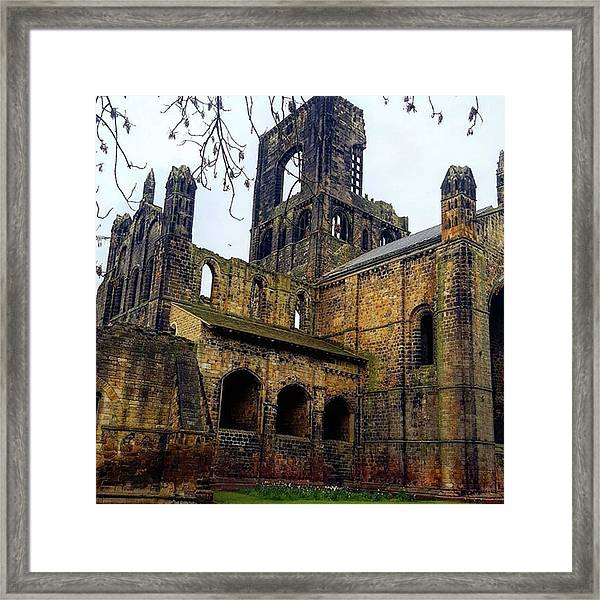 #kirkstallabbey #leeds How's Your Bank Framed Print by Dante Harker