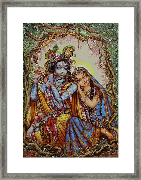Kishor Kishori Framed Print by Vrindavan Das