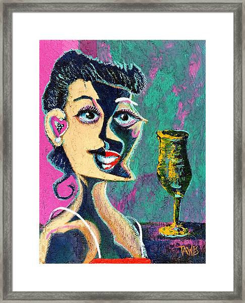 Kiss From The Night Framed Print by Dennis Tawes