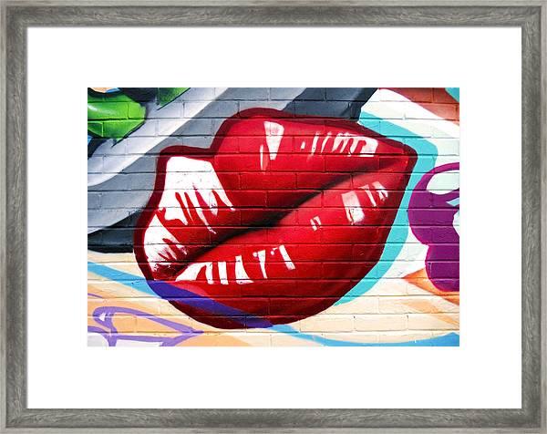 Kiss Me Now ... Framed Print
