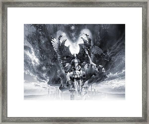 Kiss Of Eros Or Angels And Demons Framed Print