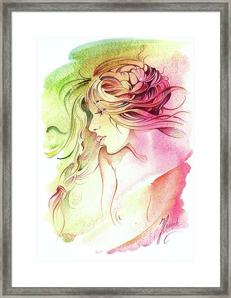 Kiss Of Wind Framed Print