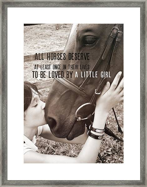 Kiss You Quote Framed Print