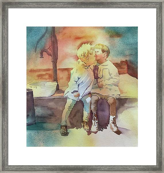 Kissing Cousins Framed Print