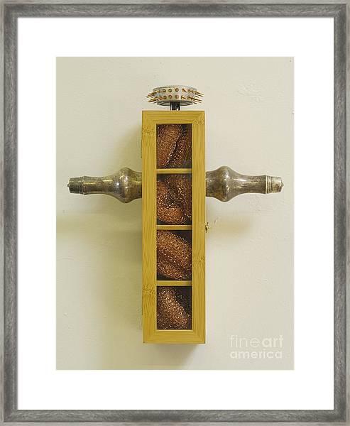 Kitchen Cross Framed Print