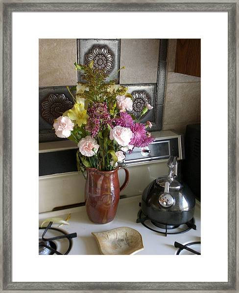 Kitchen In The Morning Framed Print