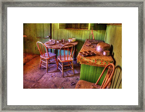 Kitchen Table Bodie California Framed Print