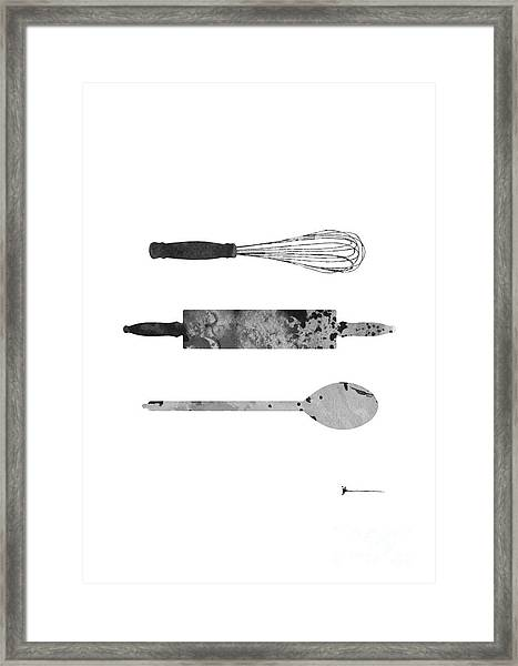 Kitchen Utensils Set Kitchen Decor Framed Print