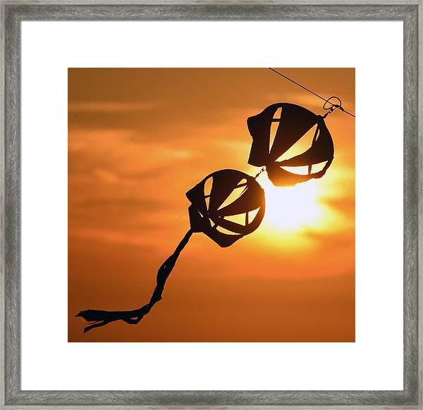 Kite On A String Framed Print