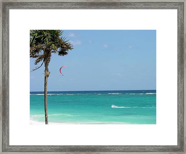 Kitesurfing The Caribbean Framed Print