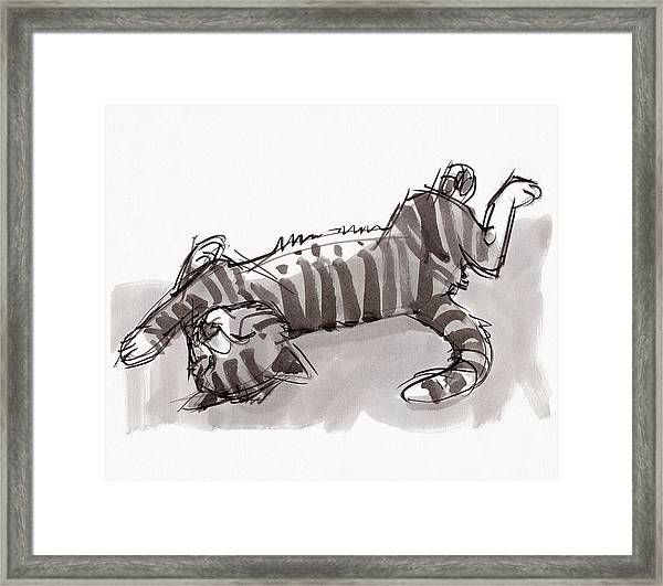 Happy Kitty Framed Print