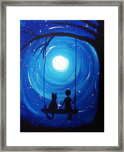 Kitty And Me Framed Print