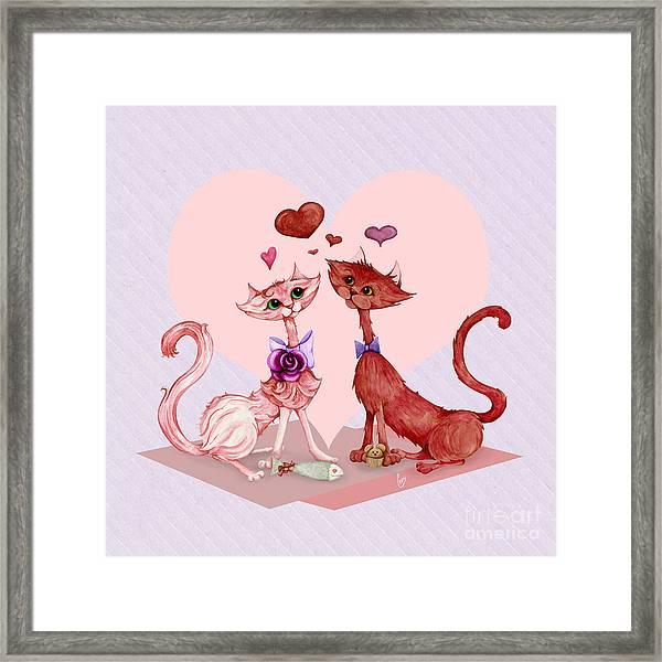 Kitty Cat Love Framed Print