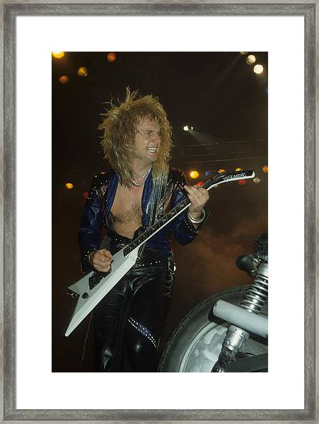 Kk Downing Of Judas Priest Framed Print