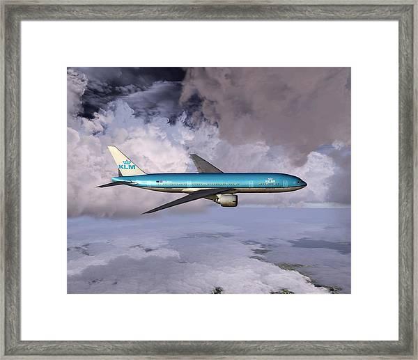 Klm Boeing 777 Framed Print