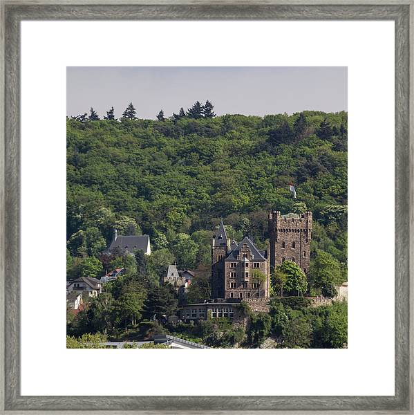 Klopp Castle Bingen Germany Squared Framed Print