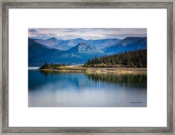 Framed Print featuring the photograph Kluane Lake by Claudia Abbott