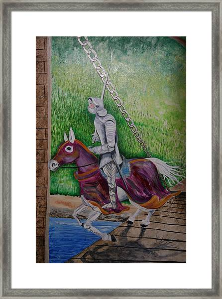 Knight  A Coming Framed Print