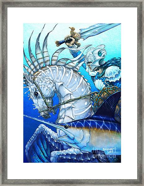Knight Of Swords Framed Print