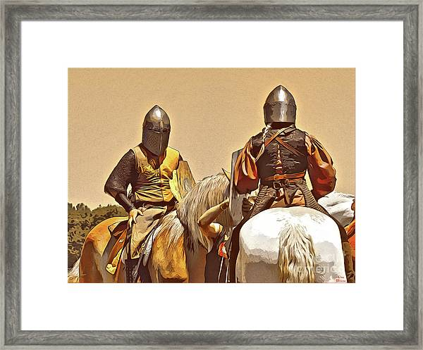 Knight's Conference Framed Print
