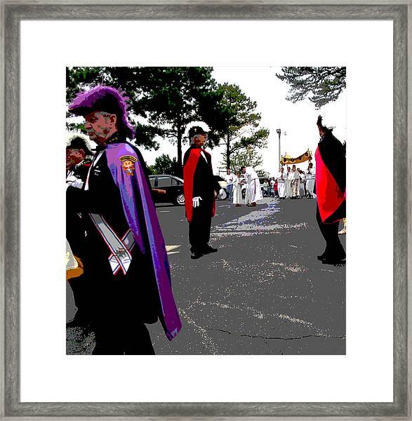 Knights In Regalia Framed Print