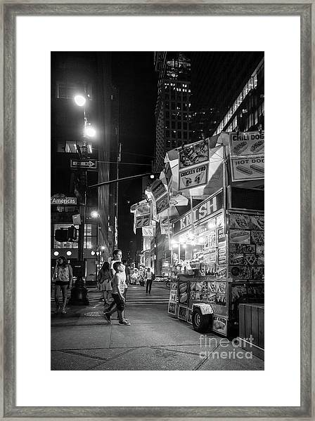 Knish, New York City  -17831-17832-bw Framed Print
