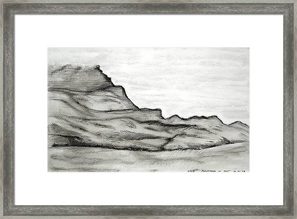 Knockmore In Mist Framed Print