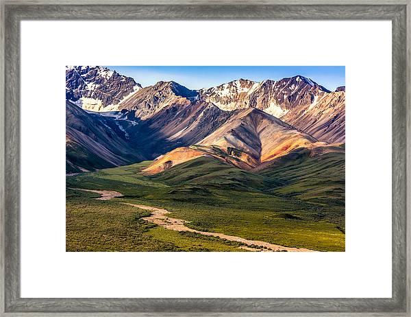Framed Print featuring the photograph Kodachrome Pass Denali Closeup by Claudia Abbott