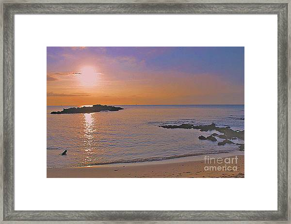 Kohala Sunset Framed Print