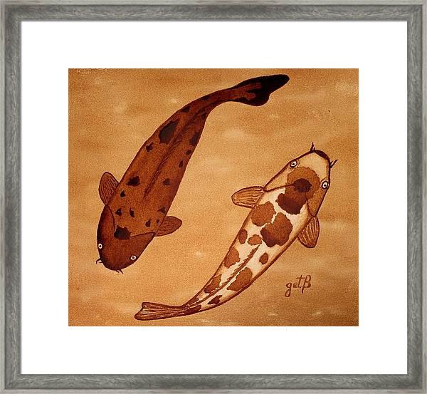 Koi Fish Feng Shui Framed Print