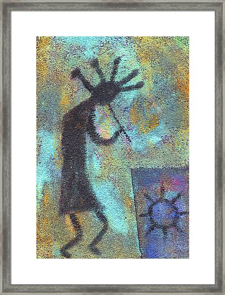 Kokopeli Framed Print