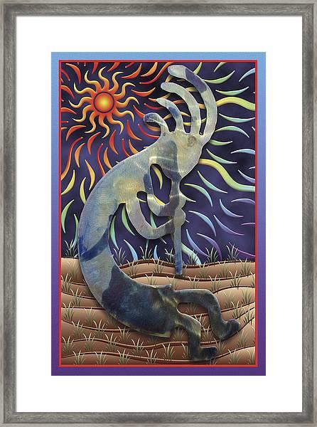 Kokopelli Spring Framed Print